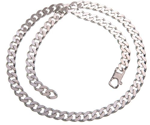 Panzerkette, Halskette, 8mm, Stärke 2,6mm - echt 925 Silber, Länge 55cm