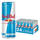 Red Bull Bebida energética, Sin Azúcar Sugarfree - 24 latas de 250 ml. (Total 6000 ml.)