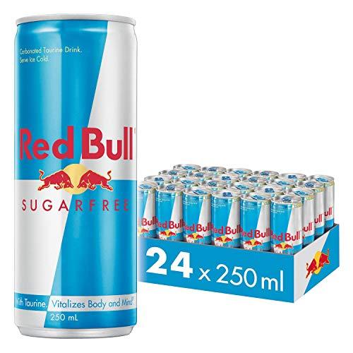 Red Bull Bebida energética, Sin Azúcar Sugarfree - 24 latas de 250 ml. (Total 6000 ml.)