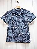 Magine(マージン) T/C BOTANICAL PRINT OPEN/C SHIRTS S/S ボタニカルプリントオープンカラー半袖シャツ (ネイビー) /開襟/アロハ/半袖/紺色/メンズ/カジュアル (46(M))