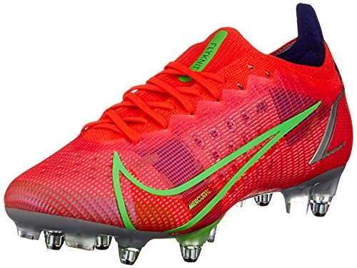 Nike Vapor 14 Elite SG-Pro AC, Zapatillas de ftbol Unisex Adulto, BRT Crimson Mtlc Silver Indigo Burst White Rage Green, 44.5 EU