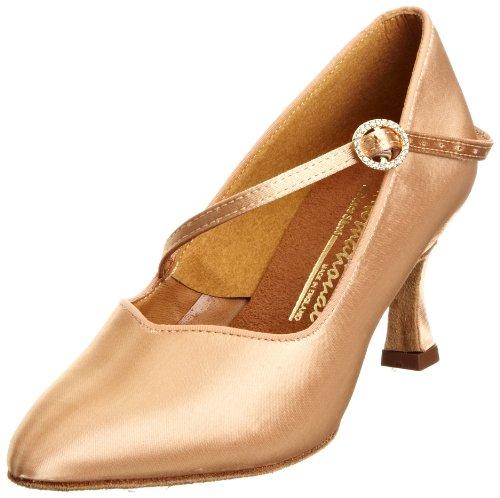 International Dance Shoes International Dance Shoes ICS Super Star INUFT0315, Damen Sportschuhe - Tanz, Braun (Flesh Satin), 36 EU / 3,5 UK