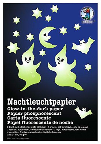 Ursus 15000000 - Nachtleuchtpapier, ca. 22 x 31 cm, 90 g/qm, 2 Blatt