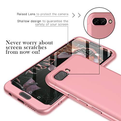 CE-Link Huawei Honor 10 Hülle Hardcase 3 in 1 Handyhülle 360 Grad Hard Hartschale Grad Full Body Case Cover Schutzhülle Bumper - Rose Gold - 2