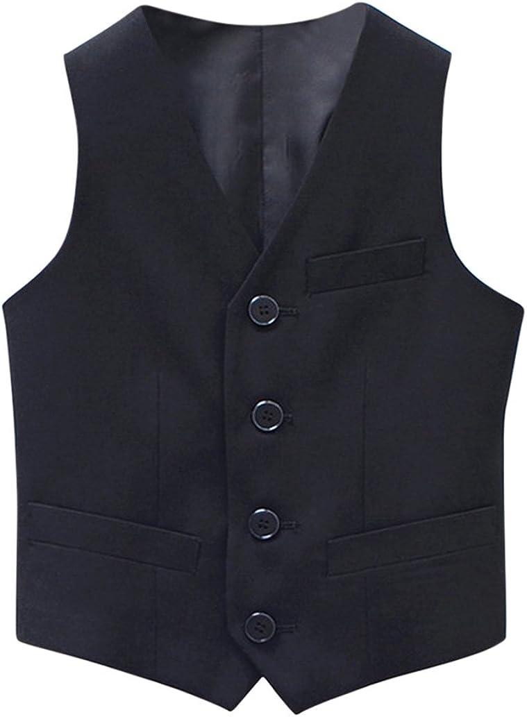 Tortor 1Bacha Kid Boys' Special Occasion Solid Tuxedo Vest Waistcoat