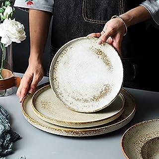 Japanese Ceramic Dinner Plates| High End Restaurant Dinnerware set by Simply Chef (Monti Dinner Plate (25 cm))