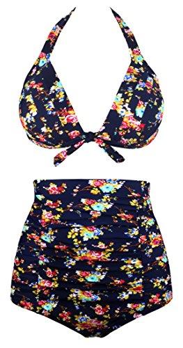 Angerella Retro Polka Dot Bikini a vita alta(BKI045-N1-XL)