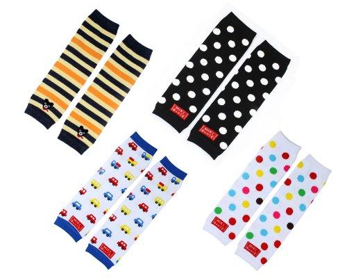 BONAMART 4× Baby Socken Cotton Leggings Kinder Knieschützer Mädchen Jungen Legs Beinstulpen