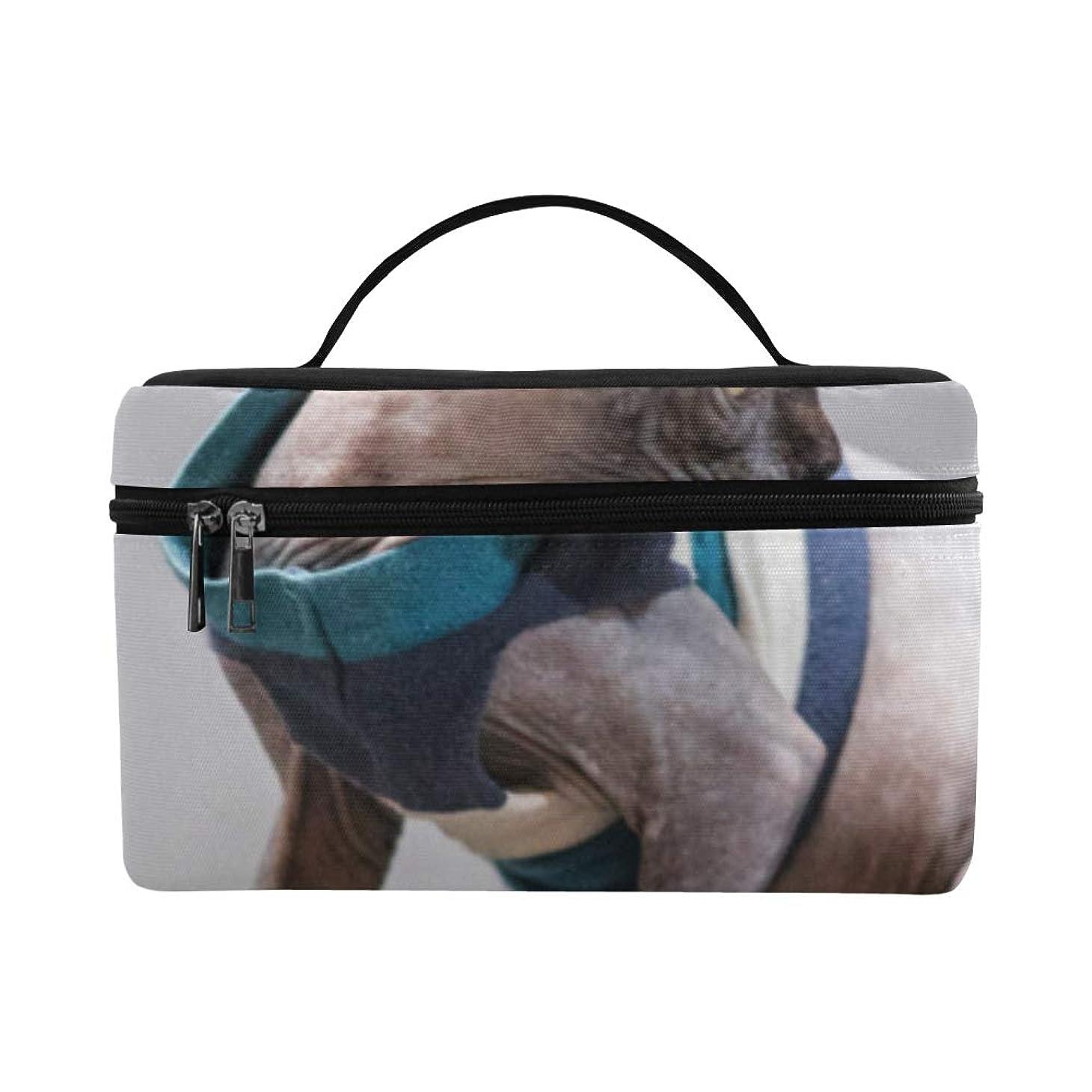 対応する手術画家CKYHYC メイクボックス すばやい スフィンクス猫 コスメ収納 化粧品収納ケース 大容量 収納ボックス 化粧品入れ 化粧バッグ 旅行用 メイクブラシバッグ 化粧箱 持ち運び便利 プロ用