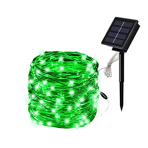 SOLARMKS Christmas Solar String Lights, 8 Modes 72Ft 200 Led Solar Power Fairy Lights Outdoor Indoor Decorative Lights Waterproof for Christmas Holiday Wedding Garden Pathway (Green)