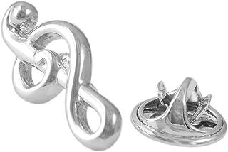 Spilla Pin A Figura di Note Musicali Formato in Ottone Durevole Gioiellieri per Donne Femmine