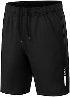 Short Deportivo Hombre, Pantalones Cortos Deporte Hombre Pantalón Corto Deportivo Secado Rápido Shorts Core Pants de Tenis Running Fitness Gimnasio Gym Atletismo Verano Negro