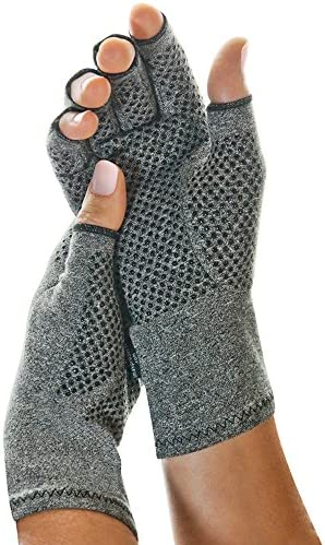 IMAK Active Arthritis Compression Gloves (Grey, Medium)