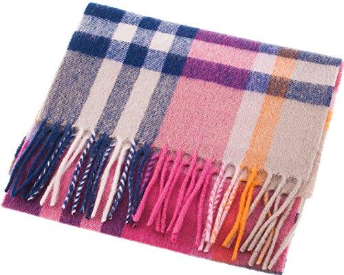 I Luv Ltd Unisex Lambswool Scarf in Astral Lollipops Tartan Design 30cm Wide