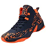 [VITIKE] バスケットシューズ ジュニア メンズ Basketball Shoes 軽量 高弾性 滑り止め スポーツシューズ 耐久性のある スニーカー 快適で ランニングシューズ ファッション スラムダンク 25.5cm