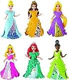Princesses Disney - CDR73 - Mini-poupée - Coffret 6 personnages - Magiclip