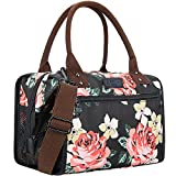 AnikSunny Insulated Lunch Bag for Women, Wide-Open Lunch Box Cooler Lunch Tote Bag with Soft Leakproof Liner, Adjustable Shoulder Strap & Carry Handle for Women/Men/Kids/Adult