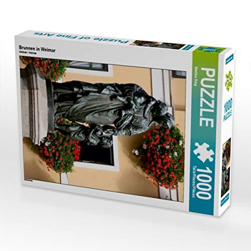 CALVENDO Puzzle Brunnen in Weimar 1000 Teile Lege-Größe 48 x 64 cm Foto-Puzzle Bild von Martina Berg