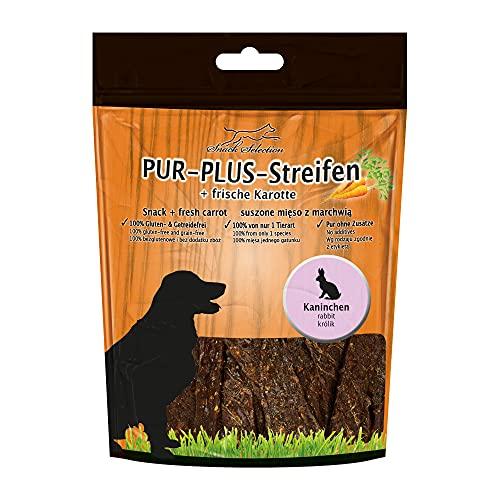 Pur Plus kaustreifen Lapin + Carotte 100% Sans Gluten getreidefrei sans Plus Ingrédients, sans additifs irgendwelchen Idéal pour chien sensibles et personnes allergiques 1 seul animal art