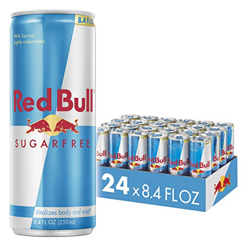 Red Bull Energy Drink Sugar Free 24 Pack of 8.4 Fl Oz, Sugarfree