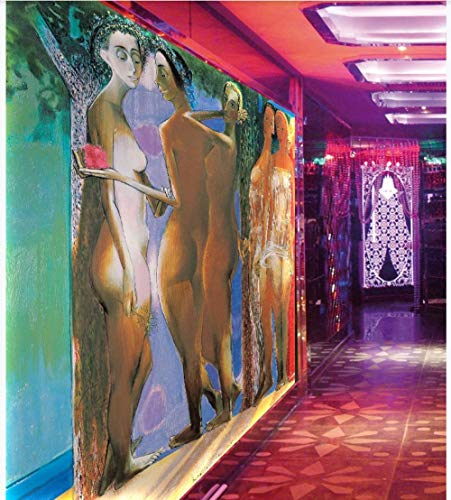 Apoart 3D Papel Pintado Music Bar Ktv Club Tema Pintura Al Óleo Mural Mural350X245Cm(137.79By96.45In)