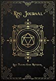 RPG Journal Mixed Paper: Ruled, Graph, Hexagon and Dot Grid | Role Playing Game Companion Black Leather Cover (Dungeon RPG Game Series)