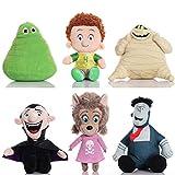 yiai 6Pcs Hotel Transylvania Plush Toy Dennis, Dracula, Murray, Frank, Brittney, Blobby Cartoon Stuffed Gifts for Boys Girls Xmas/Birthday