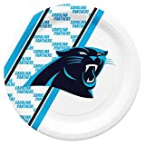 Duck House NFL Carolina Panthers Platos de Papel Desechables, Paquete de 20