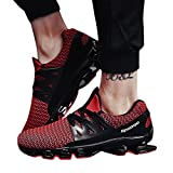 CLOOM Scarpe da Uomo Casual, Uomo Donna Scarpe da Lavoro Antinfortunistiche Scarpe da Ginnastica Sportive Uomo Donna Corsa Sportive Running Sneakers Fitness Interior Casual (Rosso,41)