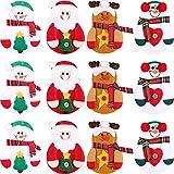 Sumind 12 Piezas de Funda de Cubiertos de Navidad Bolsa de Vajillas de Plata Bolsa de...
