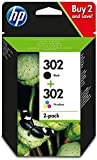 HP 302 - Cartuchos de Tinta Negro y Tri-color, Pack de 2