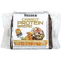 Joe Weider Victory Pan Proteico Con mucha fibra y bajo en azúcares, 11g de proteína y un 5% de zanahoria por rebanada, 250 g, 5 porciones