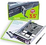 """WORKDONE Portaunidades HDD Caddy 3.5"""" para DELL PowerEdge - 11-13.ª Gen de servidores - SAS SATA Adaptador Trineo - Bandeja Cambio en Caliente - de Alta Actividad - Fácil Instalación"""
