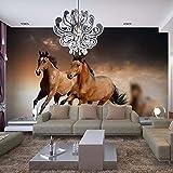 WSKBH Papel Tapiz De Murales De Pared,Wallpaper Foto 3D Estéreo Girando El Caballo Mural Salón Hotel Estudio Decoración Interior Clásico Papel De Pared Fresco-230Cm (H) X 310Cm (W)