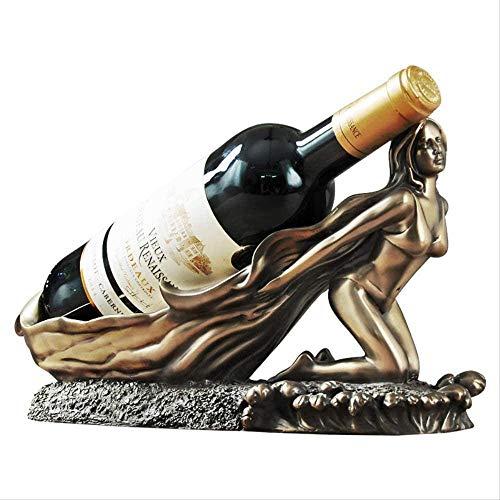 HaoLi Esculturas Decoración, Interior de la casa Estatuas Escultura Figura Coleccionables Accesorios de Adorno de estatuilla Artesanía de Cobre Estante de Vino de Belleza Minimalista