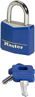 Master Lock 9140EURDBLK Key Padlock in Aluminium with Vinyl Cover, Random Color, 4 x 5.9 x 1.3 cm