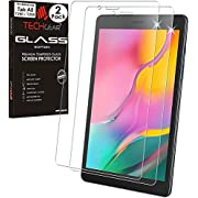 """TECHGEAR [Pack of 2 GLASS Edition Screen Protector Designed For Samsung Galaxy Tab A 8.0 2019 8"""" (SM-T290 / SM-T295), Tempered Glass Screen Protector [9H Toughness] [HD Clarity] [Scratch-Resistant]"""