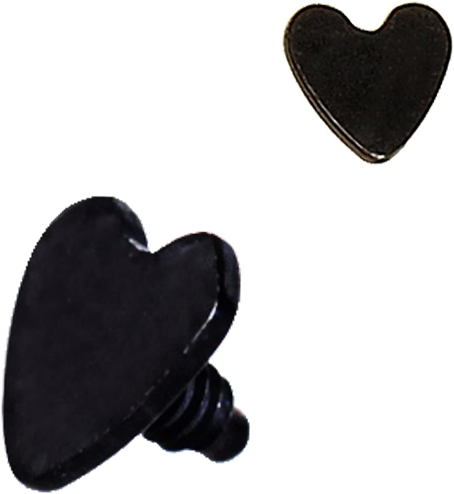 Cocobul Body Jewelry PVD Plated Over 316L Stainless Steel 4mm Heart Dermal Anchor Screw Top Choose Color