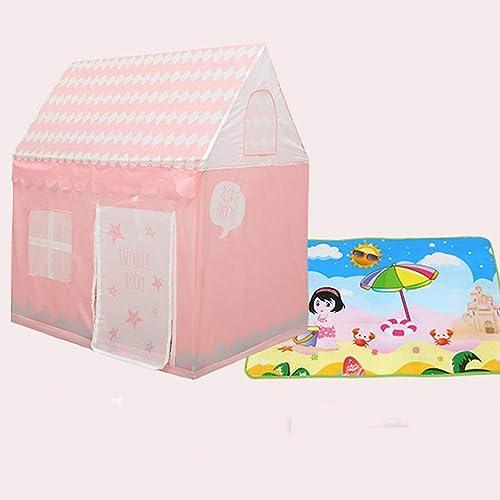 Mogicry Rosa einfach zu tragen Ultra-klares Kind im Freien Tipi Spiel Haus Indoor Zimmer mädchen Baby Boy Haushalt Bett Zelt Spielzeug Haus Kinder Spielen Zelt mit Bodenmatte für Kinder 1+
