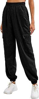 Women's Drawstring Embroidered Jogger Sweatpants Elastic...