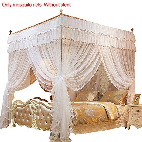 Somedays Das Beste Moskitonetz –moskitonetz doppelbett großes moskitonetz,Baldachin moskitonetz,150 * 200MM (Weiß)