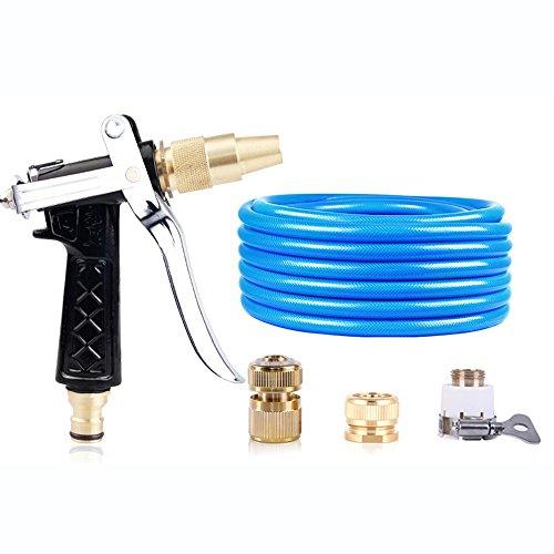 Télescopique Pistolet d'eau de lavage à haute pression Tuyaux de tuyaux d'eau domestique Outils d'arrosage à pression Rush to take Buse à vapeur de tuyau Pistolet noir + connecteur + tube rond (taille