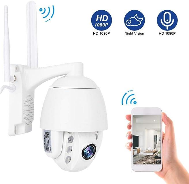 3G / 4G 1080P Cámara de Vigilancia de Seguridad Cámara de Seguridad para Exteriores + Enfoque AutomáTico + Audio Bidireccional + VisióN Nocturna Sistema de Cámara Domo IP CCTV(EU)
