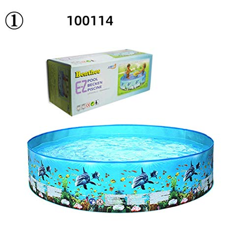 LEAFIK - Piscinas para adultos y niños grandes jardines plegables para piscinas de plástico portátil para niños y adultos