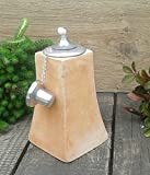Öllampe 20 cm, echt Terracotta Terrakotta Garten Deko Gartenfackel Pyramide Windlicht