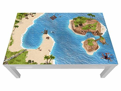 Stikkipix Piraten Möbelfolie | LCG06 | passexakt für den Lack Spieltisch von IKEA (Möbel Nicht inklusive)