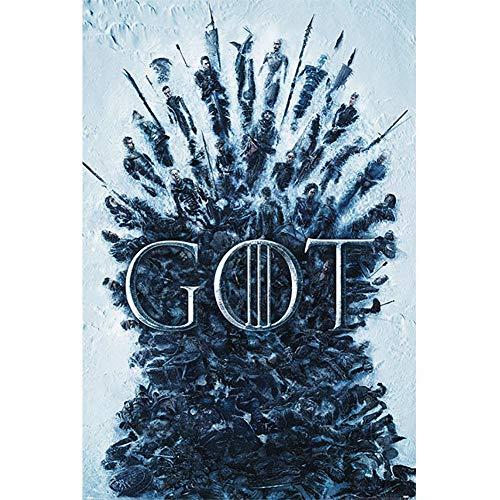 Game Of Thrones - Póster con el Trono de los Muertos