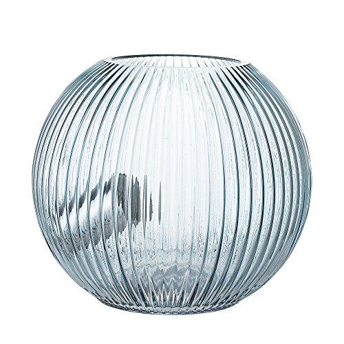 Bloomingville Tischlampe, blau, Glas