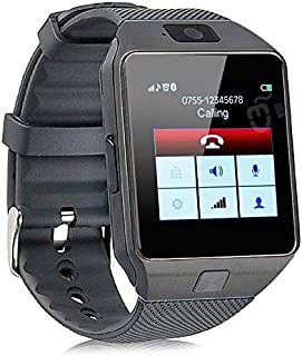 DZ09 Smart Watch Mobile Phone Unlocked Universal GSM Bluetooth 4.0 Music Player Camera Calendar Stopwatch Sync with Android Smartphones (Black)