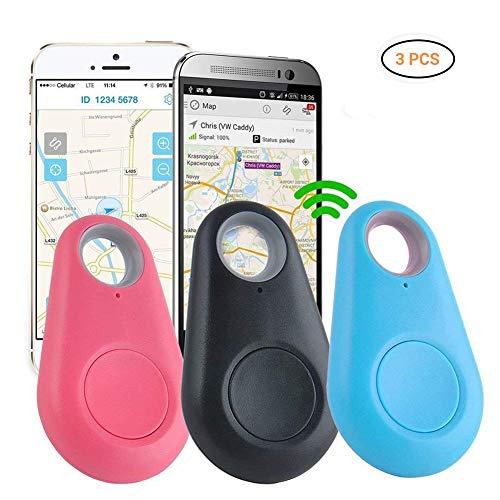 Rapoyo Key Finder Anti-Lost Tracker, 3 pièces Bluetooth Mini Tracker Key Finder Multifonctionnel avec Application Bluetooth pour Les clés Portefeuille Pratique Pet Purse Baggage Locator